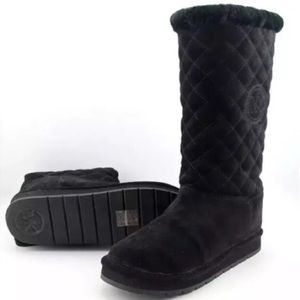 Michael Kors Sandy Quilted Suede Boots